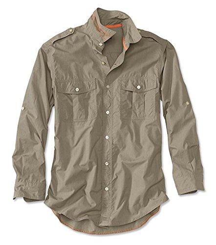 Orvis Men's Poplin Expedition Long-Sleeved Shirt, Khaki, Medium Mens Bush Poplin