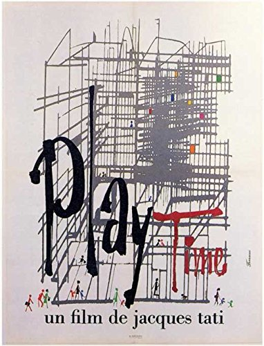 Playtime Poster Movie Foreign Jacques Tati Barbara Dennek Jacqueline Lecomte Jack Gautier