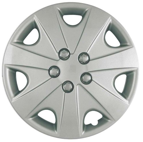 (CCI IWC414-15S 15 Inch Clip On Silver Finish Hubcaps - Pack of 4)
