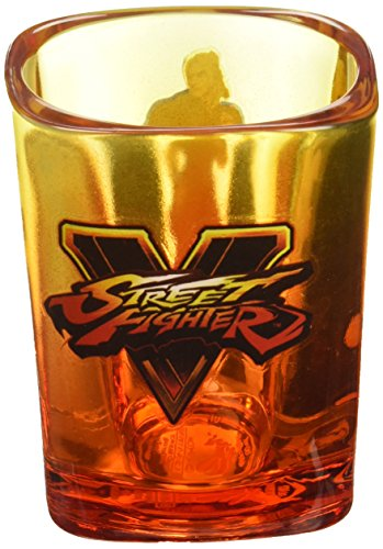 - Street Fighter  Ken Masters: Ryu's Rival  Fire Orange Shot Glass,1.5oz