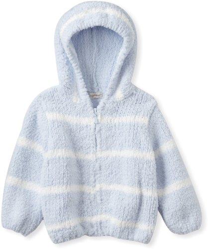 Chenille Hooded Jacket - Angel Dear Baby-boys Infant Striped Chenille Hooded Jacket, Light Blue/Ivory, 12-18 Months