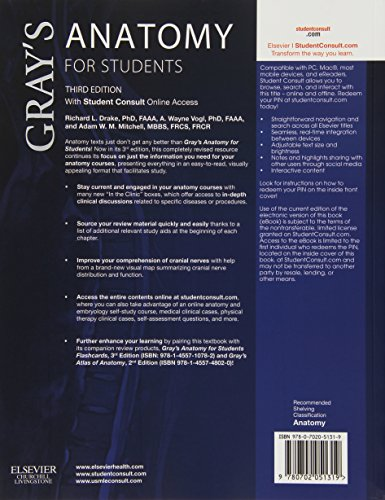 Gray's Anatomy for Students: With Student Consult Online Access, 3e