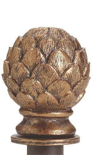 Artichoke Designed Finial New Retails Cobblestone Finished with Round Fitting