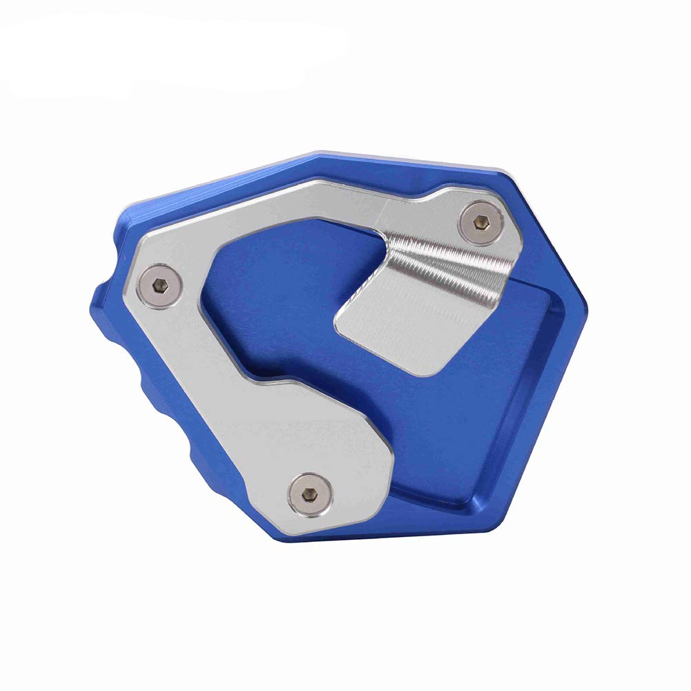 LAPUTA Motorcycle Kickstand Pad Motorcycle Parts Kickstand Plate Motorcycle Foot Pad Kickstand Side Stand Plate for Honda CRF1000L Africa Twin Blue