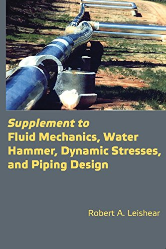 Supplement to Fluid Mechanics, Water Hammer, Dynamic Stresses, and Piping ()
