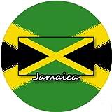 refrigerator badge - 58mm Round Badge Style Fridge Magnet Jamaica Flag