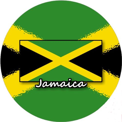 58mm Round Badge Style Fridge Magnet Jamaica Flag