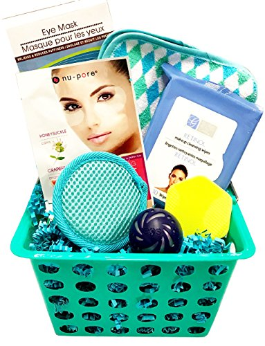 Spa Bath and Body Gift Set - Perfect for Women - Birthdays Christmas Weddings Brides Anniversary Mothers Day Get Well Graduation (Blue Face Set) ()