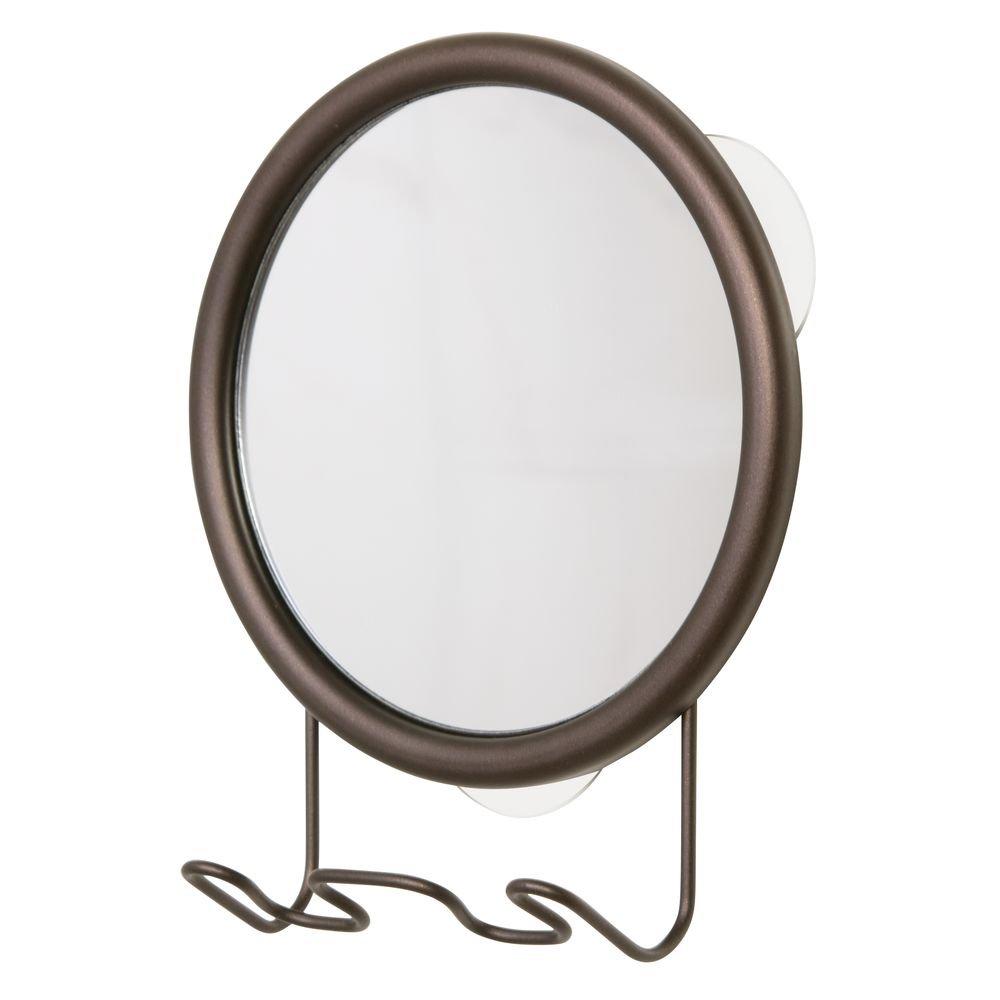 Amazon.com: InterDesign Forma Suction Shower Shaving Mirror for Bathroom  with Razor Holder - Bronze: Home & Kitchen