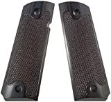 LOK Grips Checkered Classic 1911 Grips Standard Full Size Commander (Red-Black)