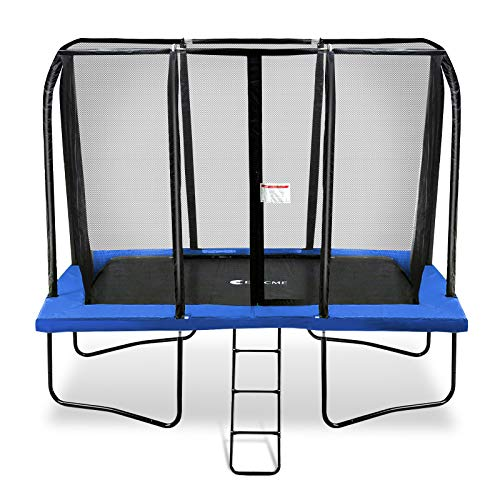 - Exacme Rectangle Trampoline 7x10 Foot with Enclosure Net, High Weight Limit and Easy Installation (Blue)
