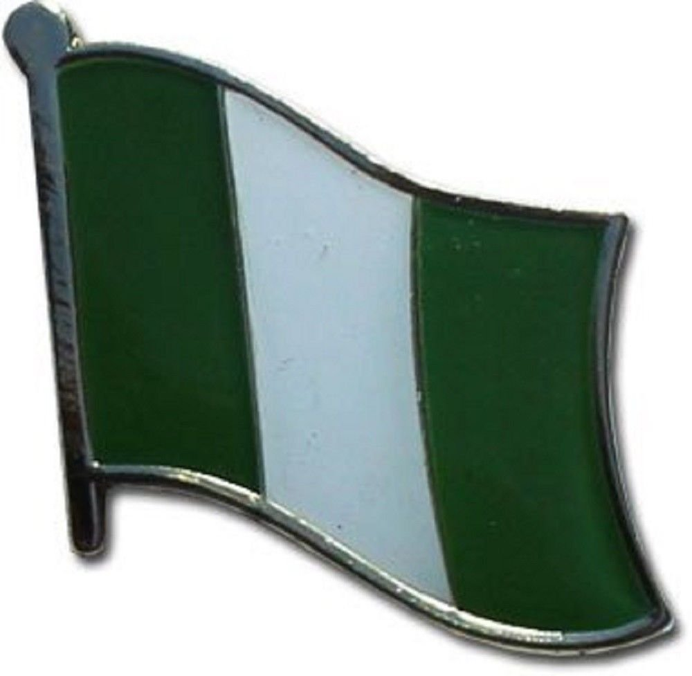 SUPERDAVES SUPERSTORE Nigeria Country Flag Small Metal Lapel Pin Badge ... 3/4 X 3/4 Inches ... New