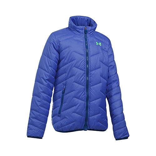Under Armour Girls' ColdGear Reactor Jacket, Violet Storm/Caspian, Youth X-Small