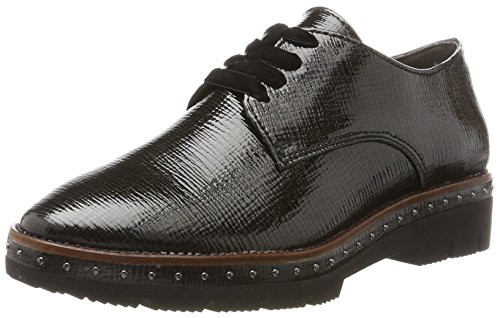 TOZZI pat Str Black Schwarz MARCO 23729 Damen Oxfords q0nxqdZB