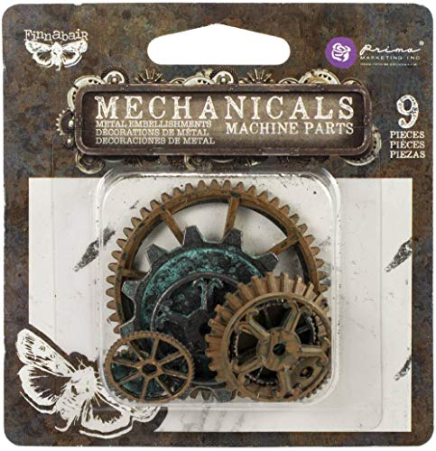 프리마 마케팅 FINNABAIR MECHANICALS 금속 EMBELLISHMENTS-기계 부품 9 | PKG