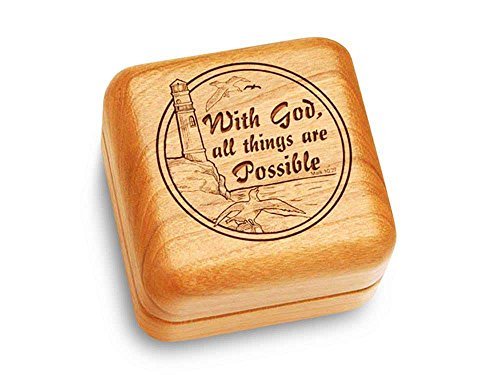 Music Box 2 1/2'' Square - All Things Are Possible - Amazing Grace by Heartwood Creations