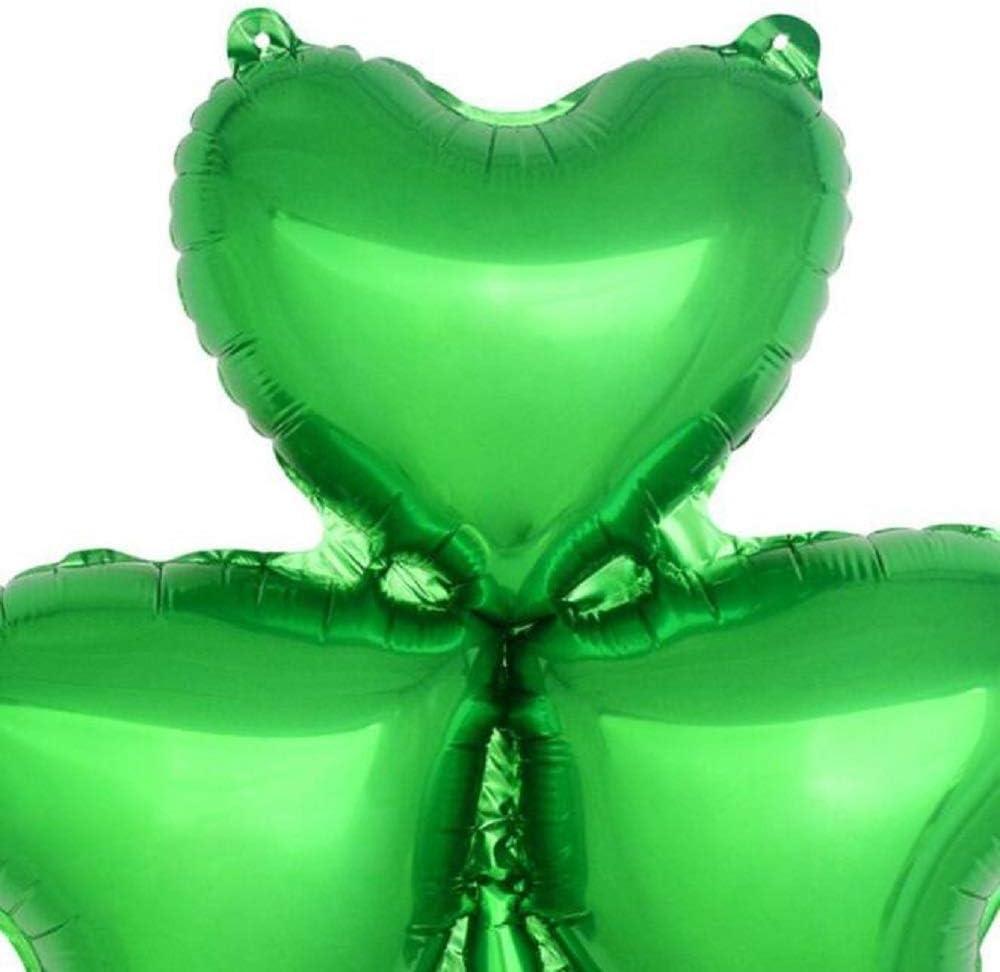 9pcs St Patricks Day Shamrock Foil Balloon Mylar Helium Balloons Irish Festival Party Supplies St Patricks Day Balloons Shamrock Irish Party Decoration