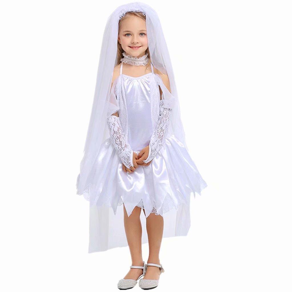 Girls Ghost bride Halloween Cosplay Costume Wedding Party Dress