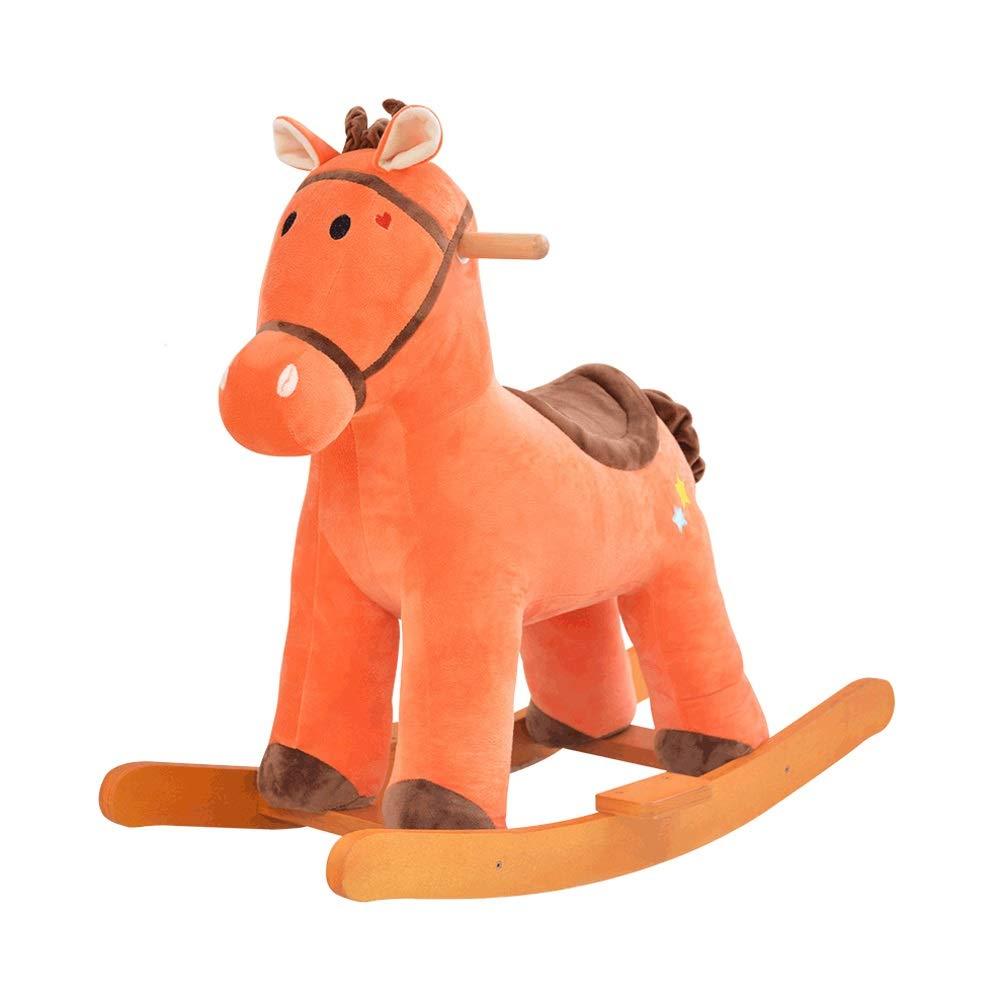 autorización Byx- Baby Rocking Horse - Silla Mecedora de Madera de de de Felpa Horse Baby Rocking Horse Bebé de educación temprana Silla Mecedora de Juguete con música marrón -Caballo de Madera  nuevo sádico