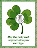 Lucky Irish Sixpence with Card for the Bride