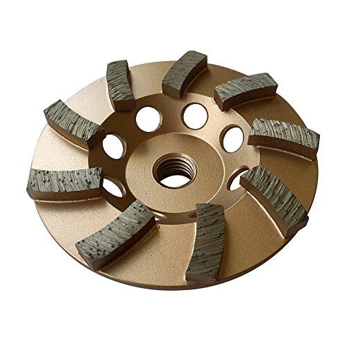 "Grinding Wheels for Concrete and Masonry 4"" Diameter 9 Turbo Diamond Segments 5/8""-11 Arbor"