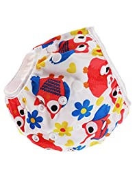 MagiDeal Reusable Baby Swim Diaper Adjustable Summer Mesh Cartoon Swimming Nappy Pants - Red Eyes, as described