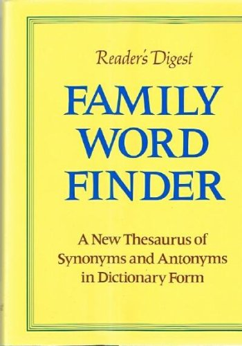 Reader's Digest Family Word Finder (Readers Word Family)