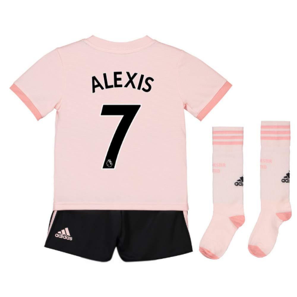 UKSoccershop 2018-19 Man Utd Away Mini Kit (Alexis Sanchez 7)