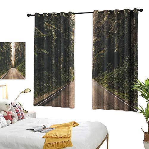 G Idle Sky Polyester Curtain Adventure Breathability California USA Roads 63