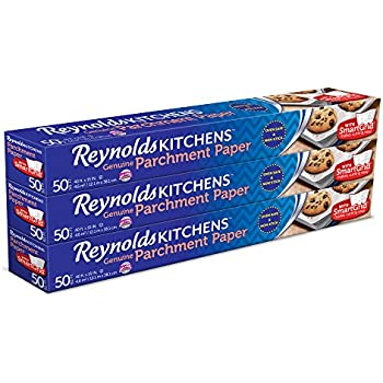 Reynolds Kitchens Parchment Paper (SmartGrid, Non-Stick, 50 Square Foot Roll, 3 Count)