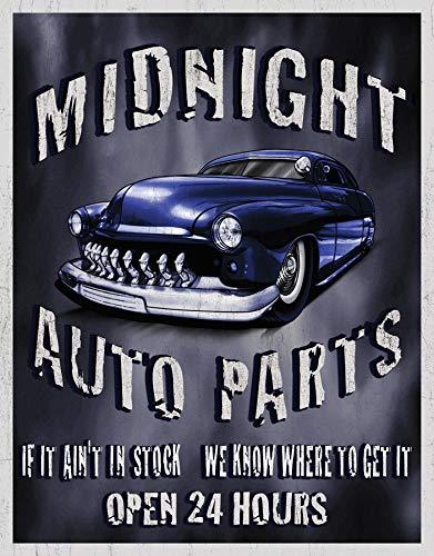 (Desperate Enterprises Legends - Midnight Auto Parts Tin Sign, 12.5