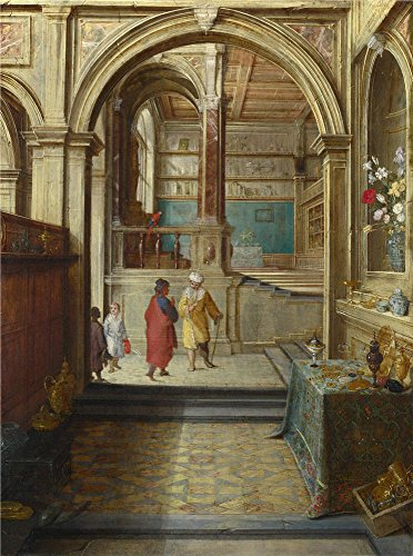 Solon Applicators - Oil Painting 'Hendrick Van Steenwyck The Younger Croesus And Solon', 18 x 24 inch / 46 x 62 cm , on High Definition HD canvas prints is for Gifts And Dining Room, Kids Room And Kitchen Decoration, art