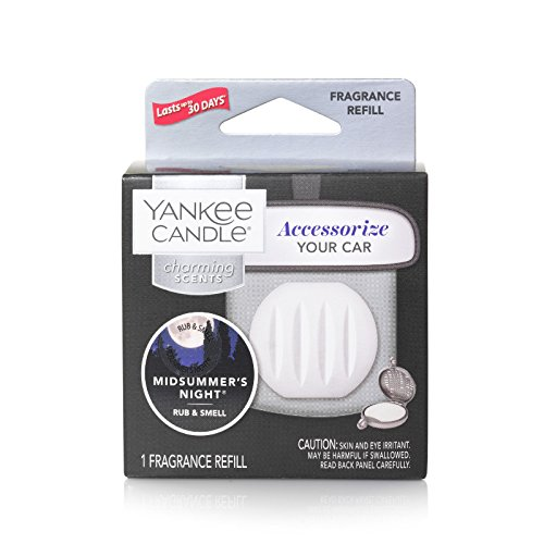 Yankee Candle Charming Scents Car Air Freshener Refill, MidSummer's Night