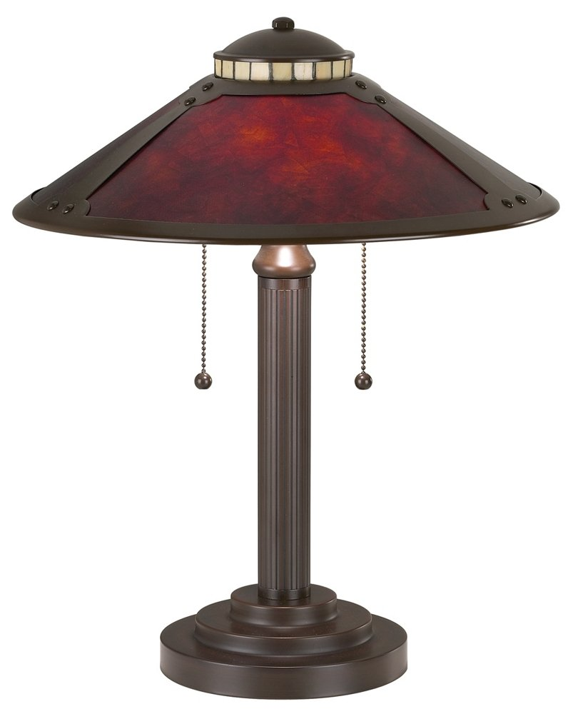 Mica Collection 18 1/2'' High Mission-Style Desk Accent Lamp