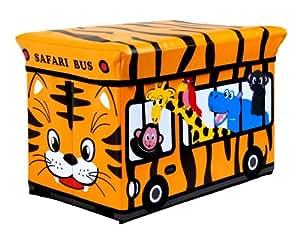 Rsw ni os infantil almacenaje grande asiento taburete libros ropa caja pecho tren fuego motor - Caja almacenaje infantil ...