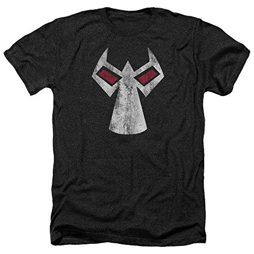 (Batman DC Comics Bane Mask Outline Accents Adult Heather T-Shirt)