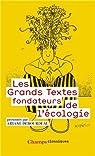Les grands textes fondateurs de l'écologie par Debourdeau