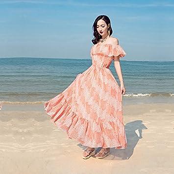 XIU*RONG Mujer Vestido De Verano Vacaciones Playa Falda Falda ...