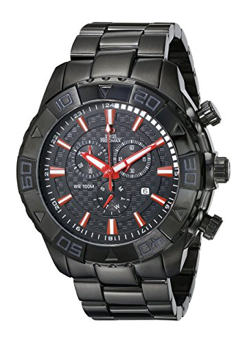 Swiss Precimax Men's SP13362 Valor Elite Analog Display Swiss Quartz Black Watch