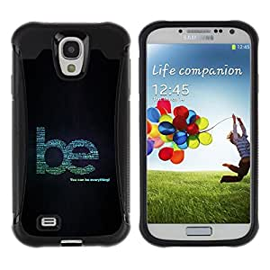 iKiki Tech / Estuche rígido - Be Creative Wise Kind Help Quote Everything - Samsung Galaxy S4 I9500