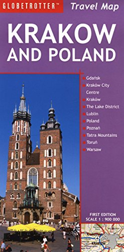Krakow and Poland Travel Map (Globetrotter Travel Map)