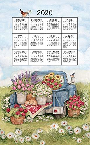 Kay Dee 2020 Linen Calendar Towel - Flower Truck ()