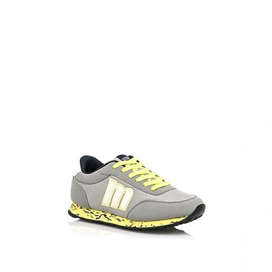 Mtng , Chaussures de ville à lacets pour femme Gris jaune: : Chaussures et Sacs