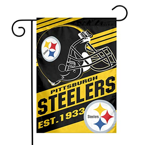 Dalean Pittsburgh Steelers Double-Sided Printed Garden Flag Weatherproof for Party Yard and Home Outdoor Decor - 12x18 Inches