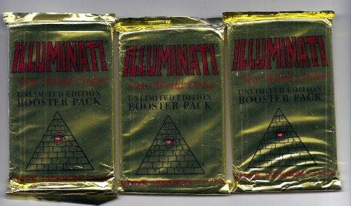 Steve Jackson Illuminati New World Order Unlimited Edition Booster Packs (3)