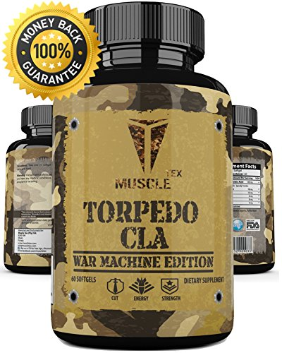 __ MUSCLE TEX TORPEDO __ Max Strength CLA – Powerful Results – For Weight Loss And Belly Fat – SUPER Fast Acting Weight Loss Pills For Men & Women – BODYBUILDING APPROVED