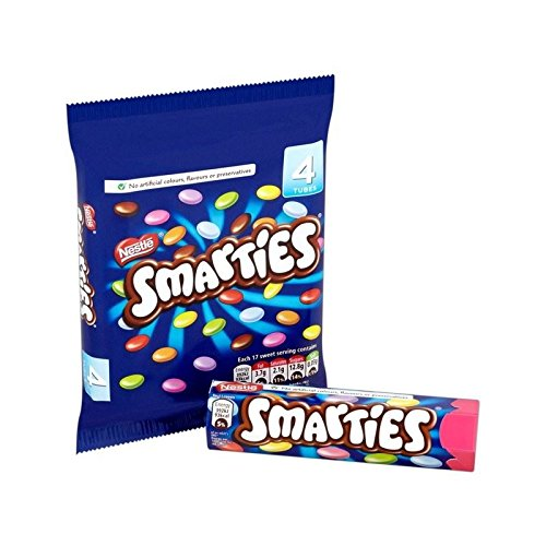 Smarties Multipack 4 x 38g - Chocolate With Smarties Candy