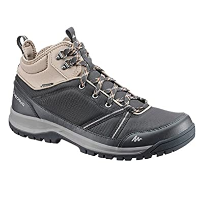 3369d799536 Quechua NH300 Mid Waterproof Men s Nature Hiking Boots - Black  Buy ...
