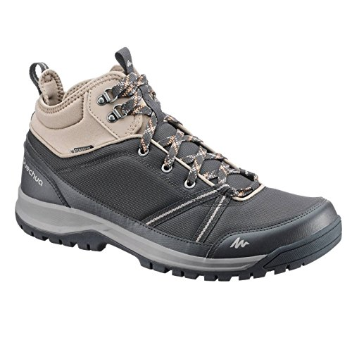 Quechua NH300 Mid Waterproof Men's Nature Hiking Boots - Black...