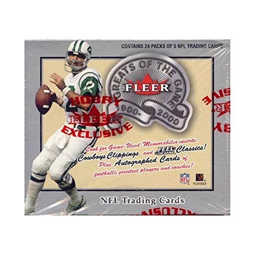 2000 Fleer Greats Of The Game Football Hobby Box